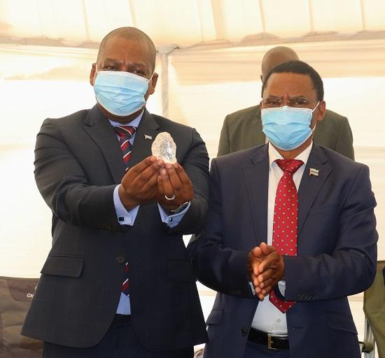 أشاد الرئيس موكويتسي ماسيسي باكتشاف بوتسوانا