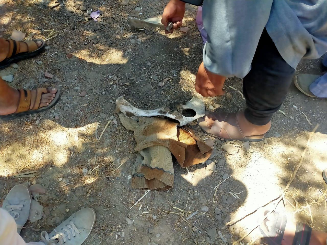 أهالى قرية الدلجمون بكفر الزيات يستخرجون أعمال سحر مدفونة فى المقابر (4)