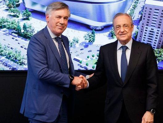 أنشيلوتى ورئيس ريال مدريد