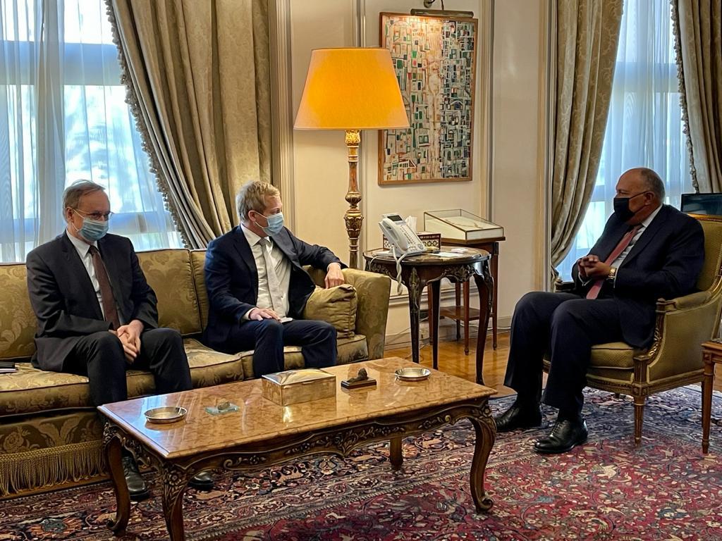 وزير الخارجية سامح شكرى يستقبل المسؤول الأوروبى