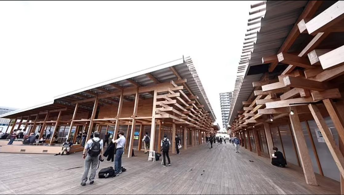 الخشب المستخدم فى القرية الاولمبية