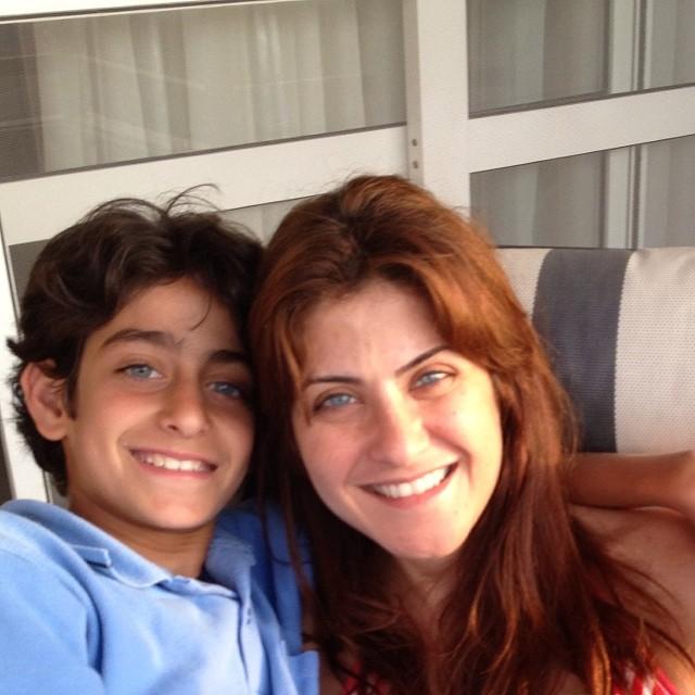 هيدي كرم وابنها نديم (5)