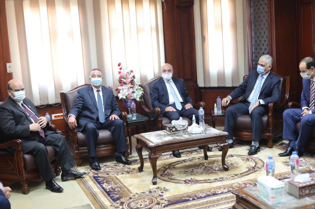 جانب من لقاء وزير العدل ومحافظ الاسكندرية