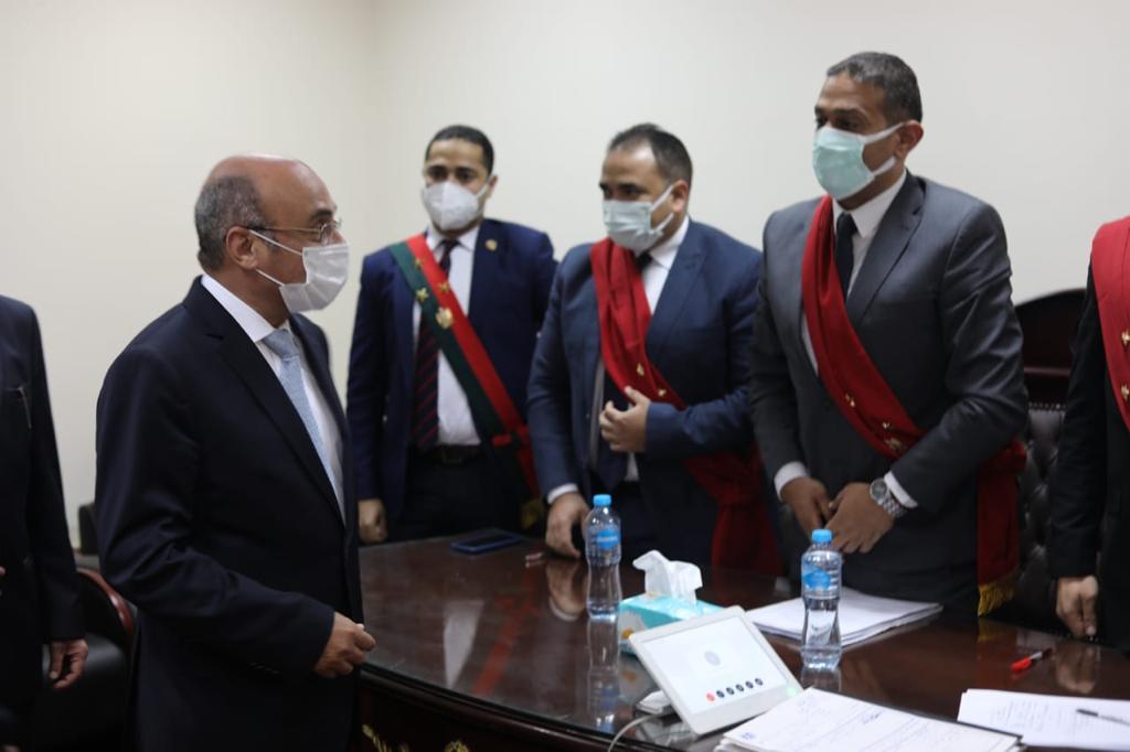 وزير العدل فى جلسة تجديد حبس عن بعد