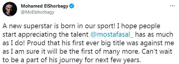 حساب محمد الشوربجى على تويتر