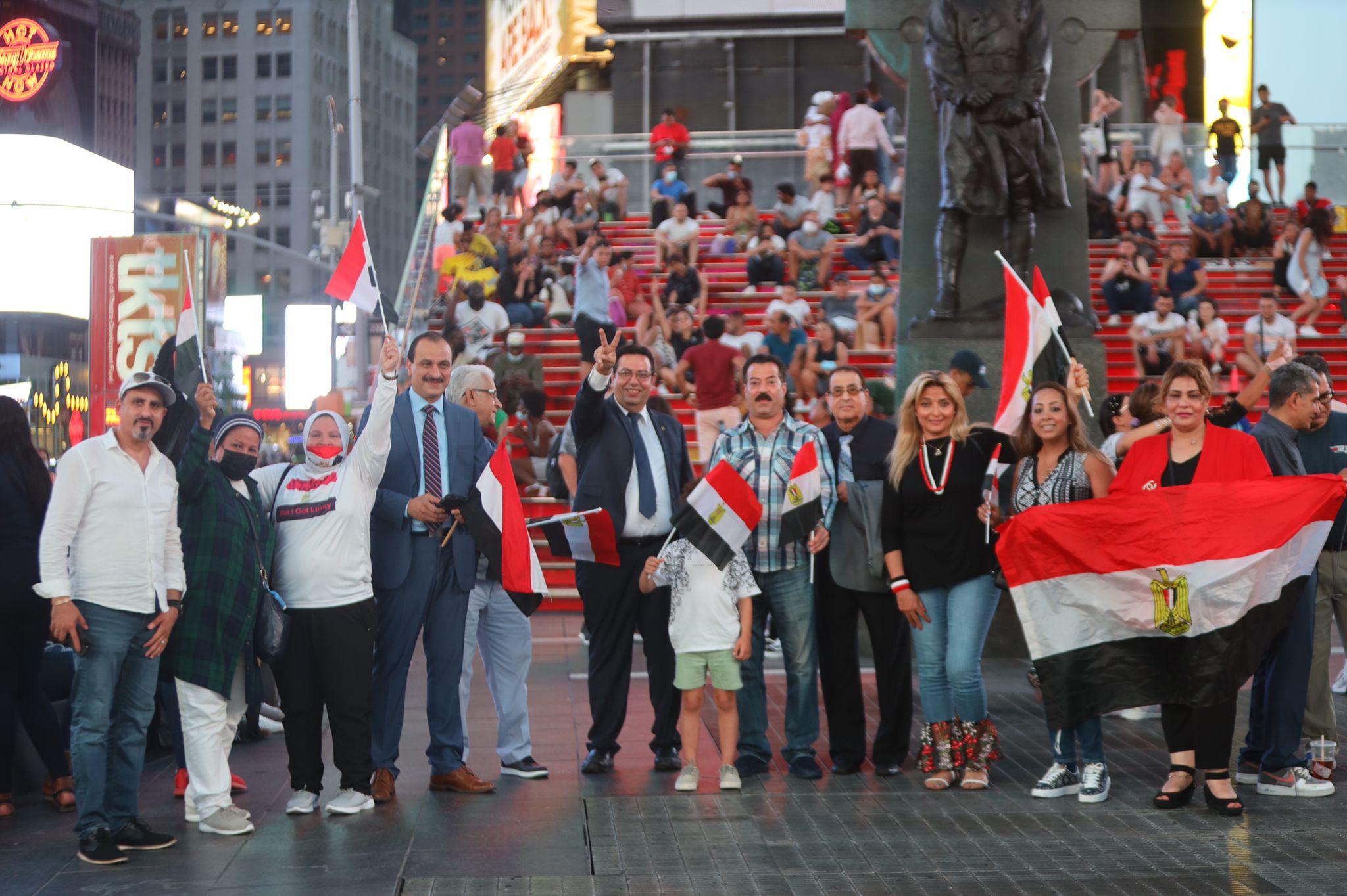 المصريون فى نيويورك يحيون ذكرى ثورة يونيو