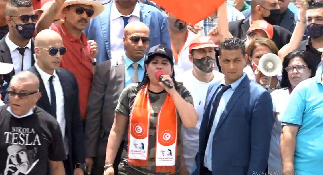 جانب من فعاليات ضد الاخوان فى تونس
