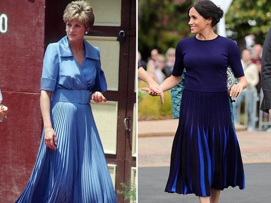 ميجان وديانا باللون الأزرق الداكن