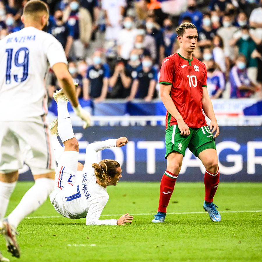 رد فعل لاعب بلغاريا على هدف جريزمان