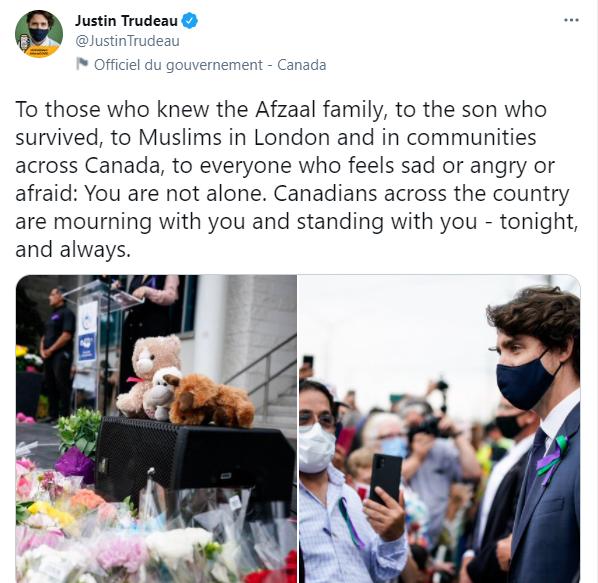 رئيس وزراء كندا على تويتر