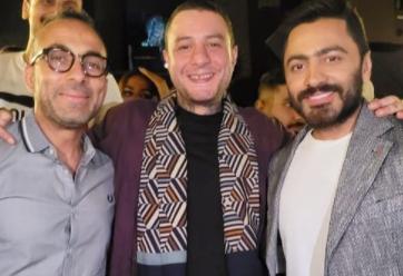 أحمد الفيشاوى وتامر حسنى