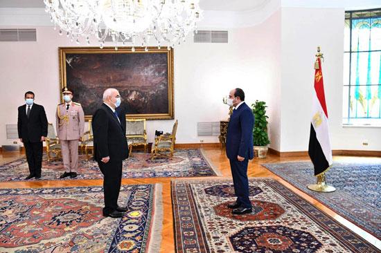 الرئيس السيسي يشهد أداء حلف اليمين للمستشار حسين مصطفى فتحى رئيسا لهيئة قضايا الدولة (3)