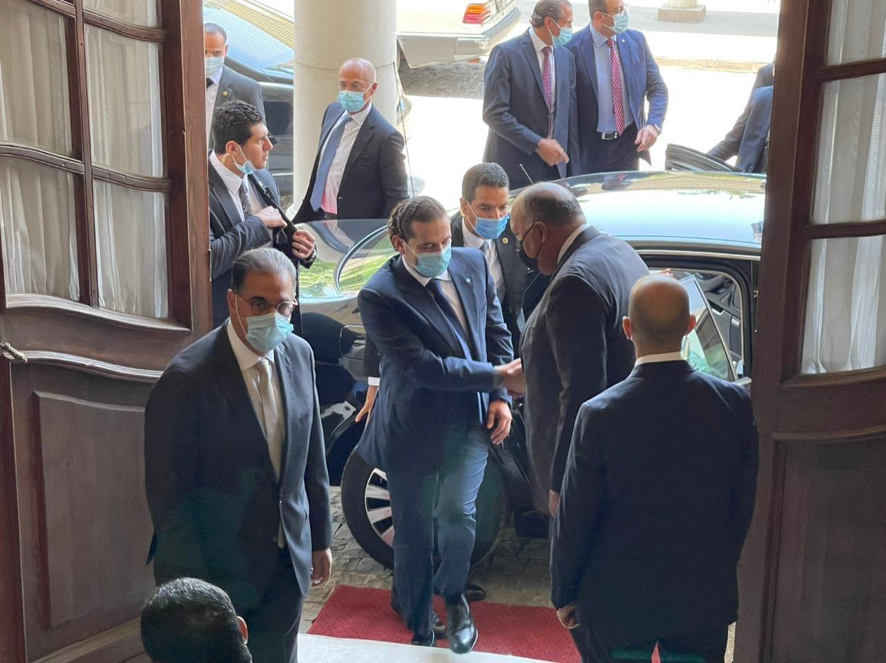 وزير الخارجية يستقبل سعد الحريرى
