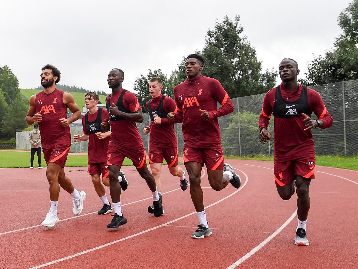 محمد صلاح في تدريبات ليفربول (1)