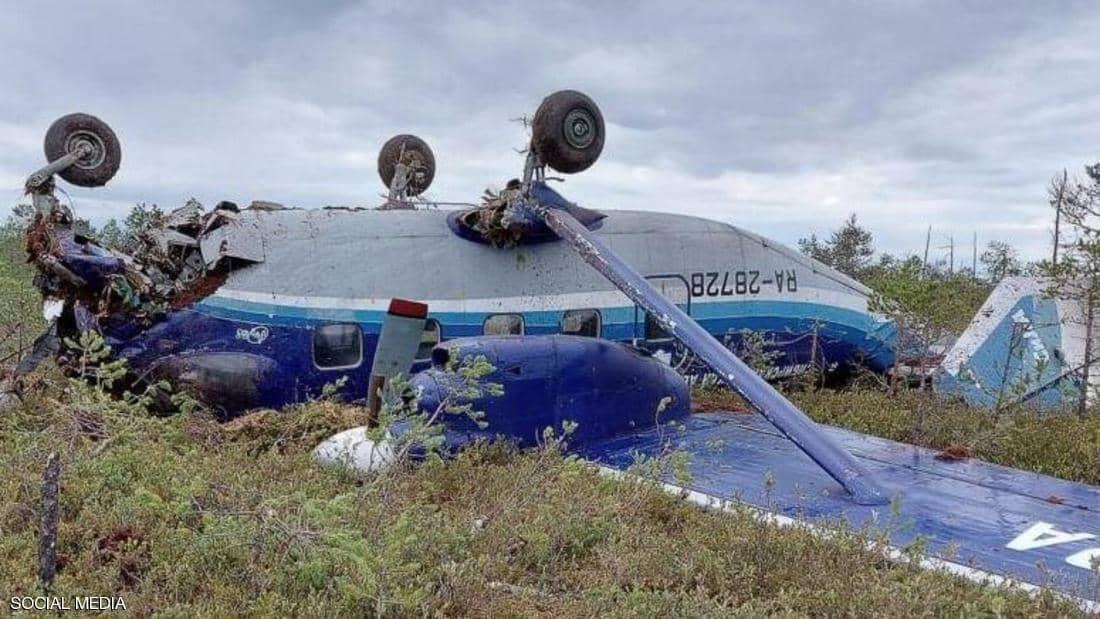 الطائرة بعد هبوطها