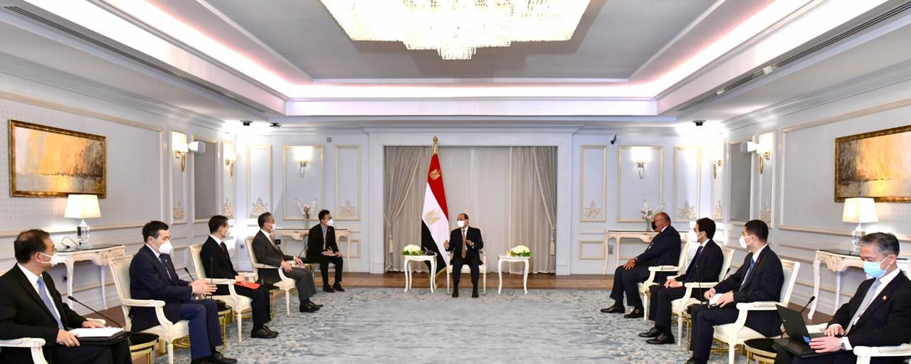 الرئيس السيسي ووزيرة خارجية الصين