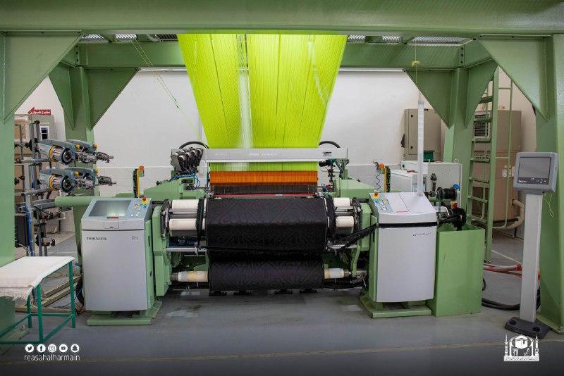 خيوط الحرير المستخدمة فى صناعة كسوة الكعبة
