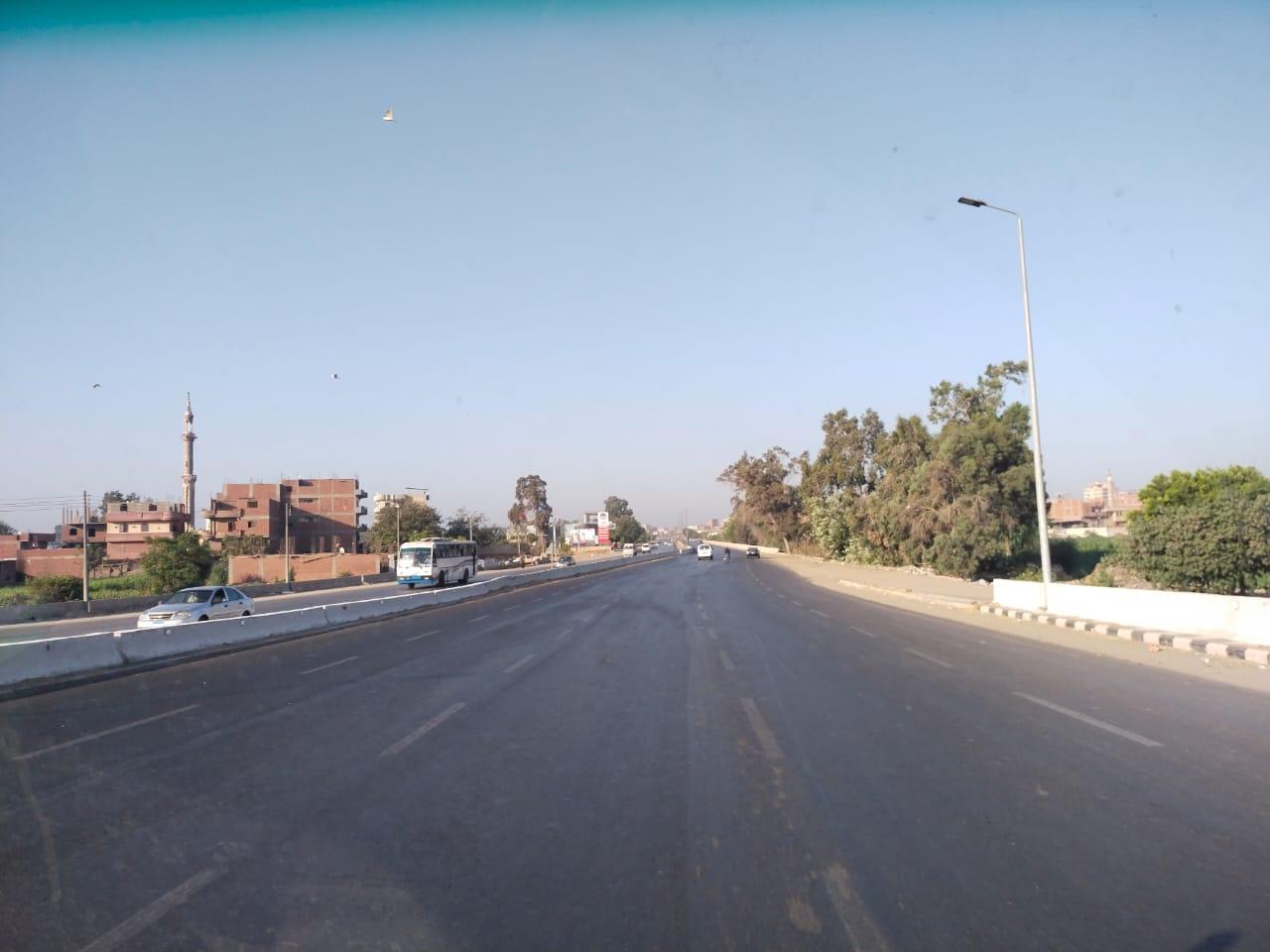 سيولة مرورية بطريق القاهرة الإسكندرية الزراعى (6)