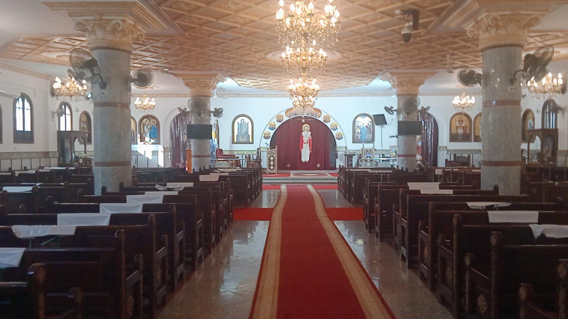 جانب من كنيسة كنيسة الشهيد مارمينا والقديس البابا كيرلس السادس بكفر الشيخ
