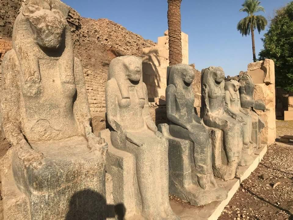 تماثيل فرعونية بقلب المتحف المفتوح بالكرنك