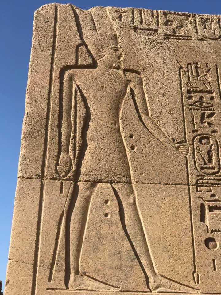 التاريخ الفرعونى على جدران الكرنك