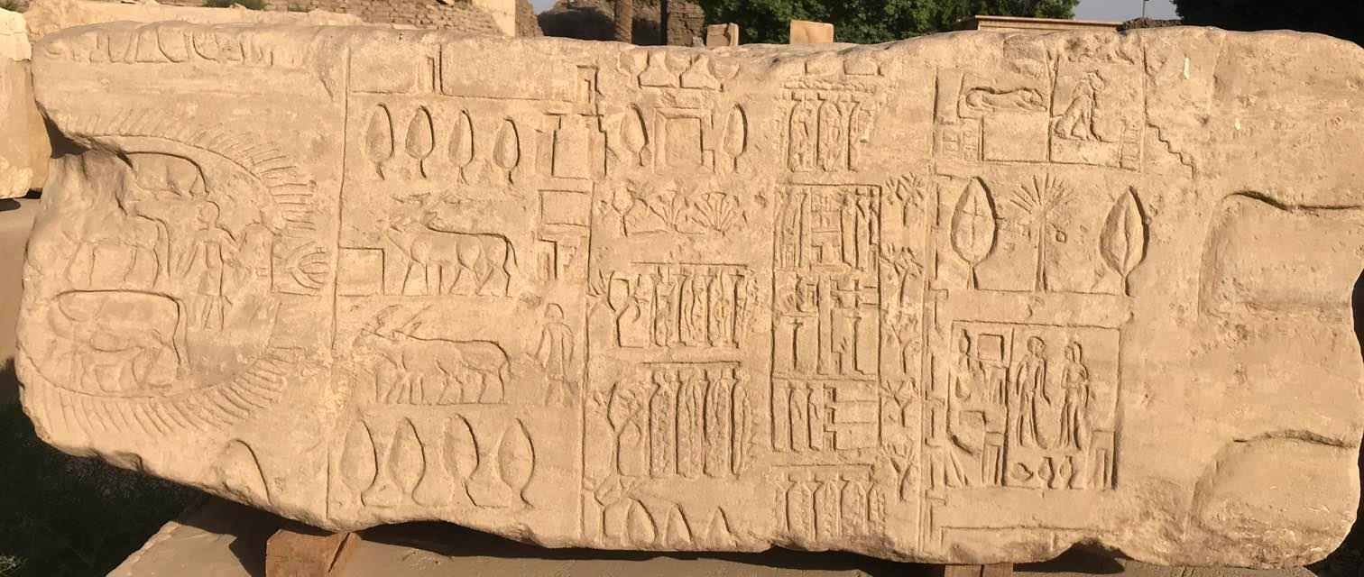 الحياة المصرية القديمة على احجار الكرنك