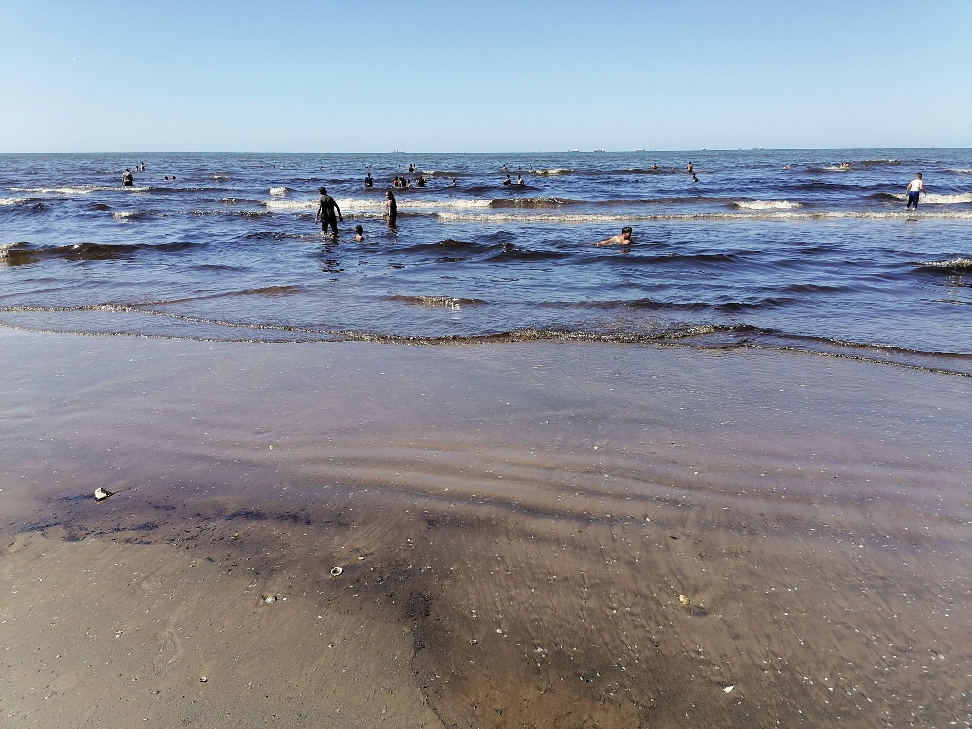 تلوث مياه شاطئ بورسعيد
