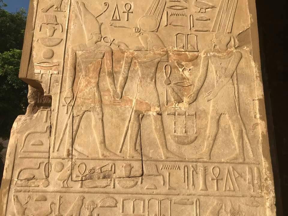 الحضارة الفرعونية منقوشة على جدران الكرنك