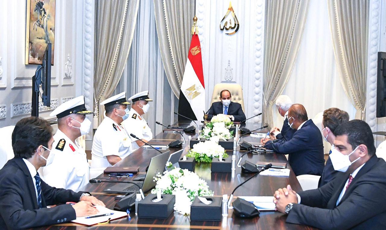 الرئيس السيسي يستقبل مالك مجموعات لورسن الألمانية العالمية للصناعات البحرى