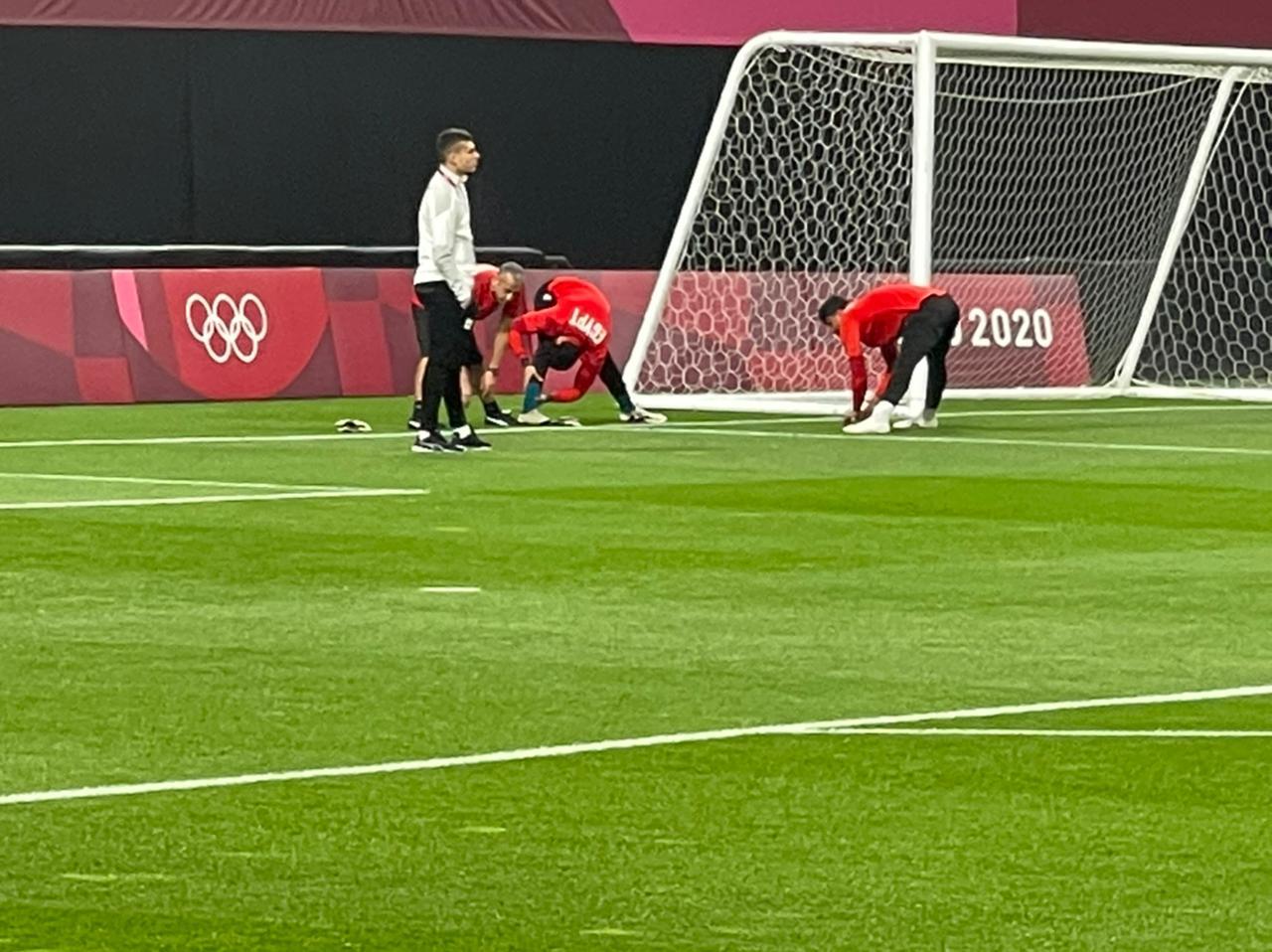 تدريب الحراس قبل مباراة اسبانيا