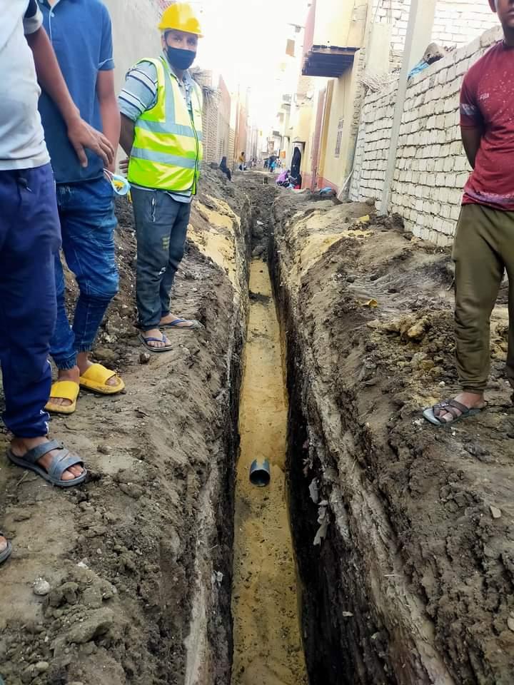 مشروعات الصرف الصحى بالمنيا