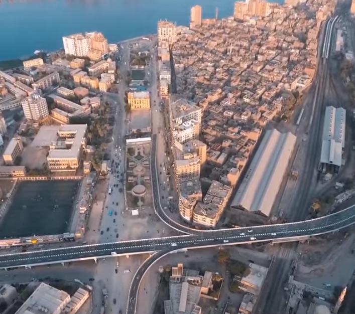 جمال المدينة مع امتداد النيل