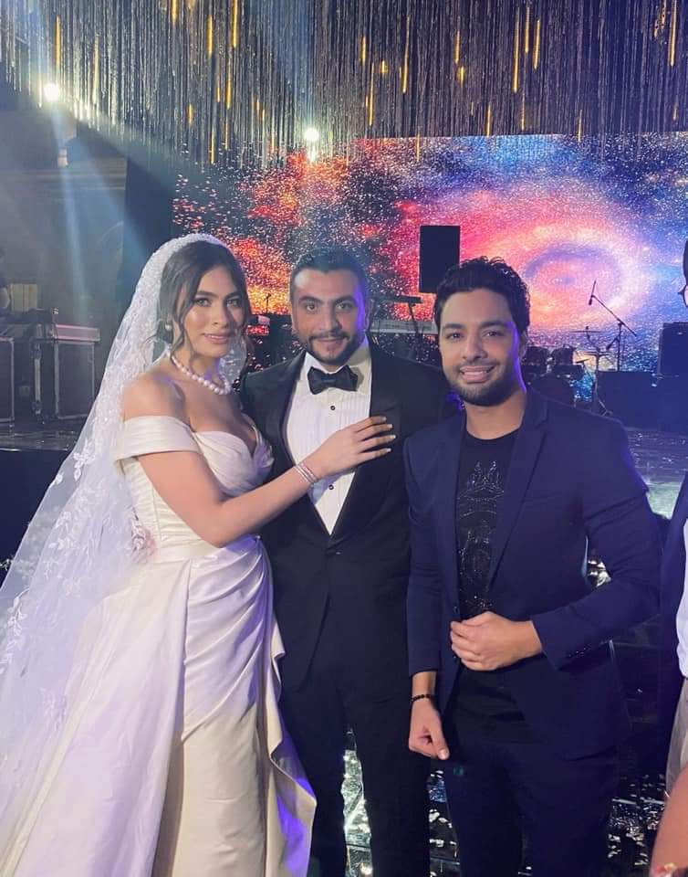 أحمد جمال فى زفاف هاجر أحمد