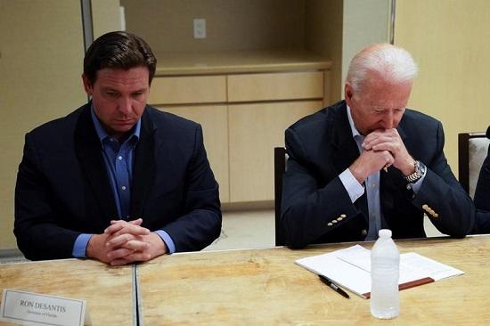 الرئيس جو بايدن يشارك في إحاطة حول انهيار المبنى إلى جانب حاكم فلوريد