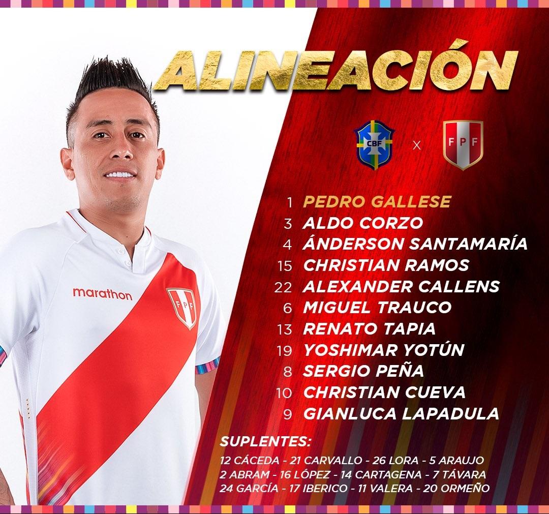 تشكيل منتخب بيرو