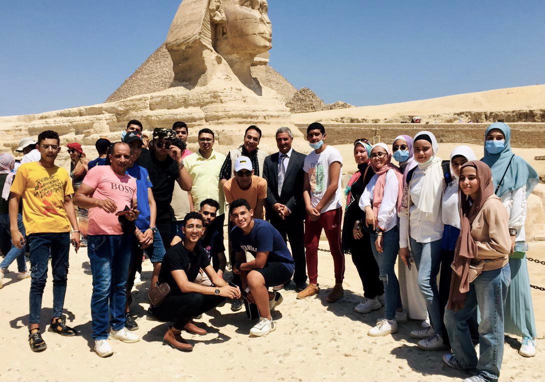 الرحلة شملت منطقة الأهرامات وأبو الهول