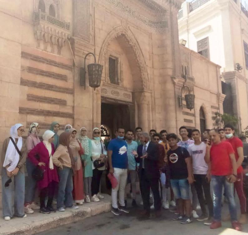 الرحلة شملت مجموعة من الآثار التاريخية بالقاهرة