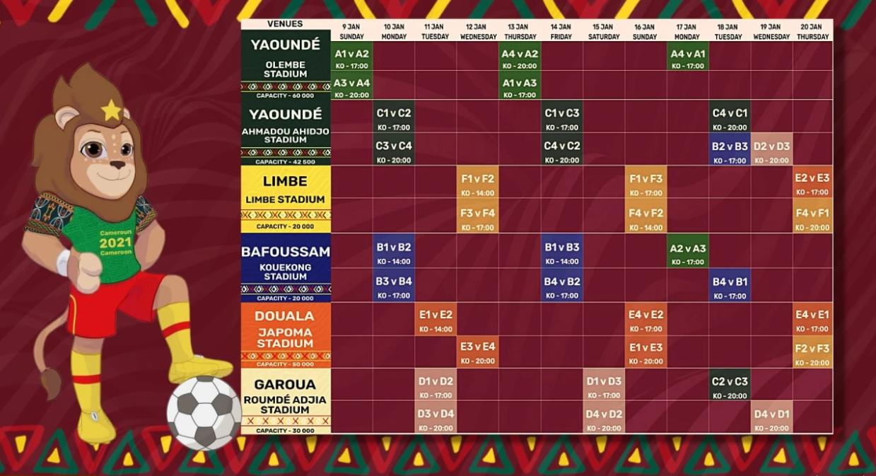 جدول المباريات