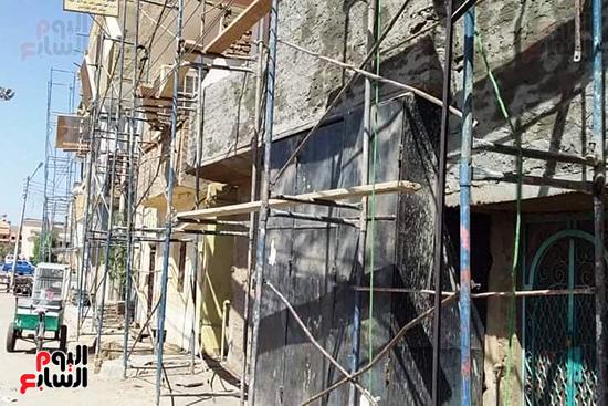 طلاء-واجهات-المنازل-بطول-طريق-الكباش-قبل-إفتتاحه