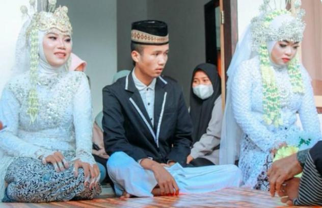 العريس وزوجتيه