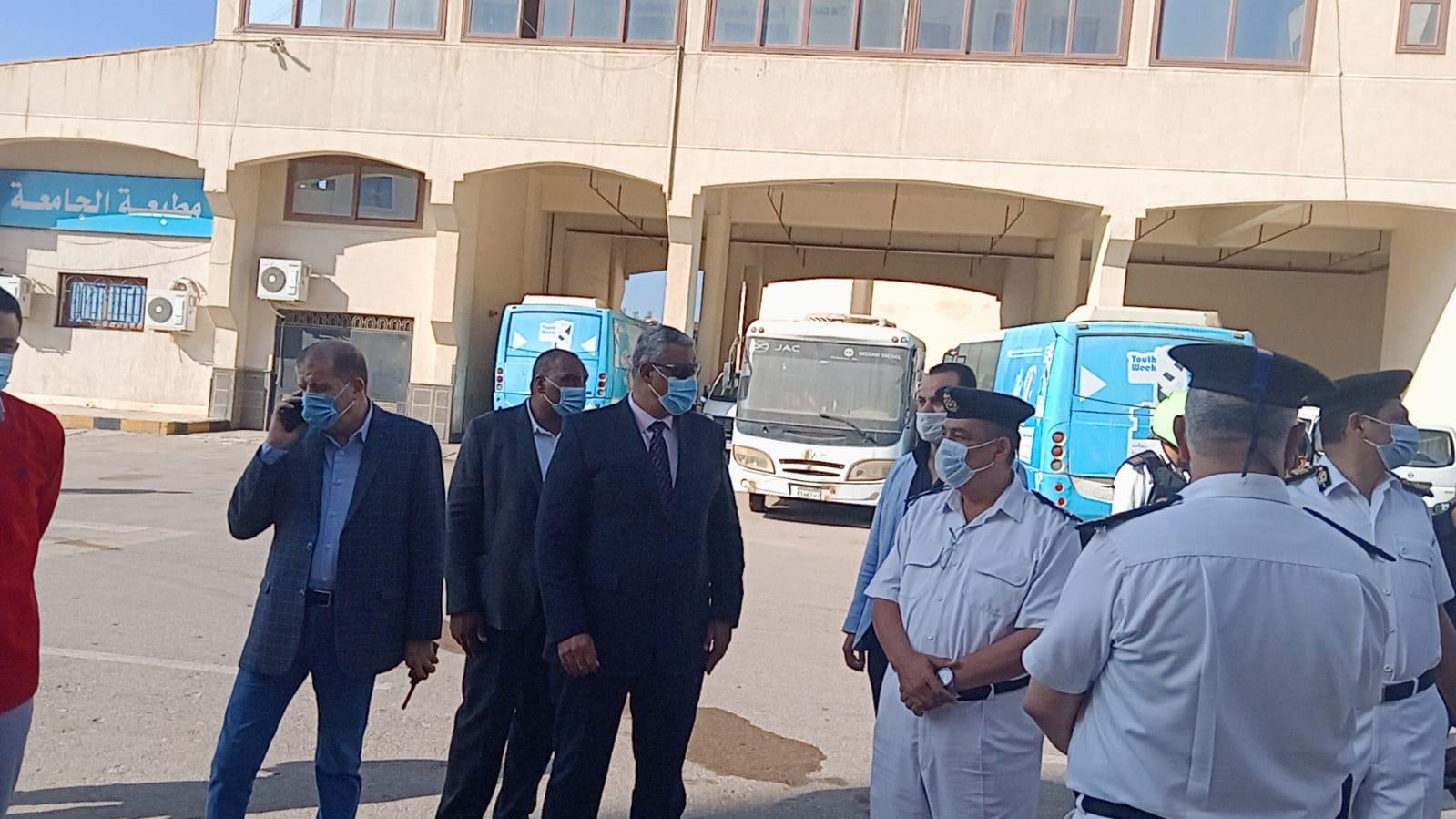 حريق بمدرج بكلية الثروة السمكية بجامعة كفر الشيخ
