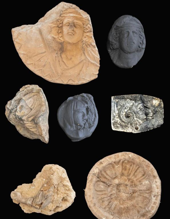 قطع أثرية مكتشفة