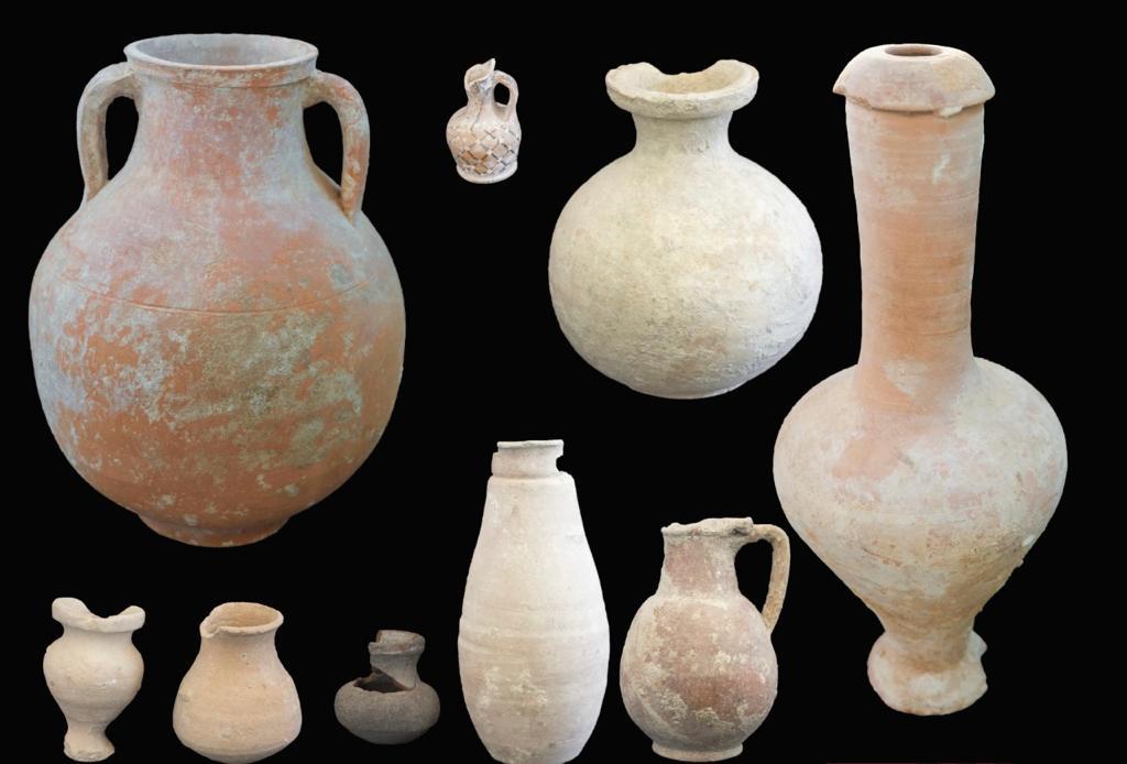 القطع الأثرية المكتشفة