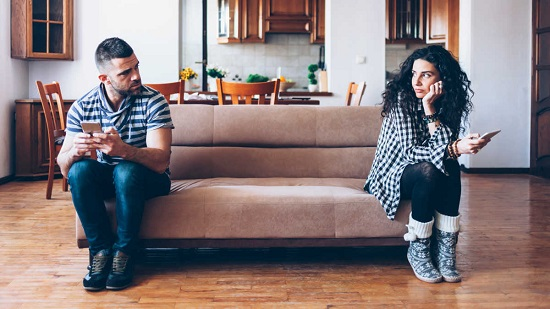 Failed marital relationship