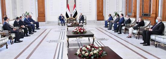 الرئيس السيسي والرئيس العراقي (3)