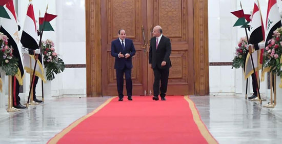 الرئيس السيسي والرئيس العراقي (2)