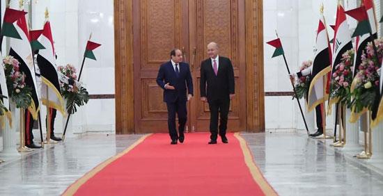 الرئيس السيسي والرئيس العراقي (1)