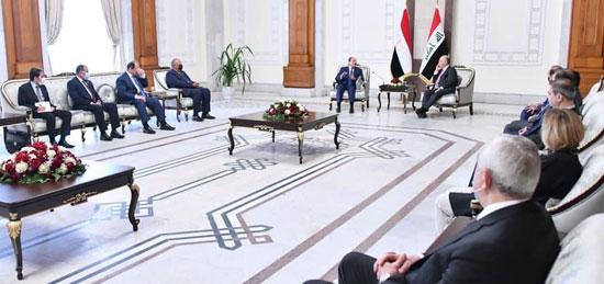 الرئيس السيسي والرئيس العراقي (7)