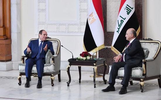 الرئيس السيسي والرئيس العراقي (4)
