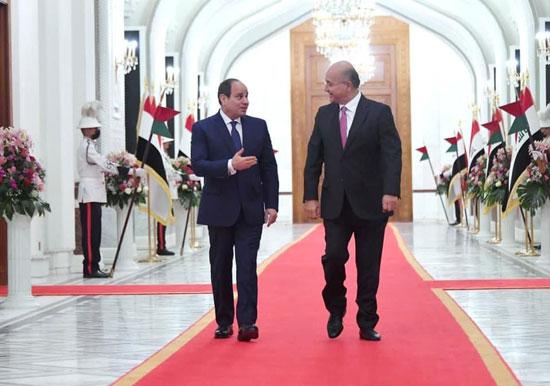 الرئيس السيسي والرئيس العراقي (5)